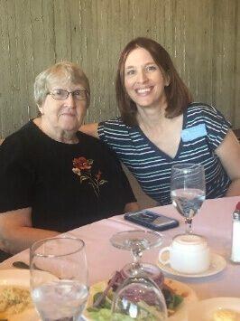 Heidi Stangl at ceremony for Iowa Reading Service Award Winner